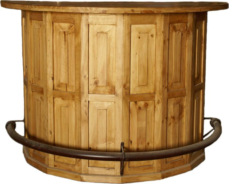 Rustic pine half round home bar — Rustic Furniture Outlet