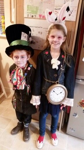 Mad hatter and The white rabbit.