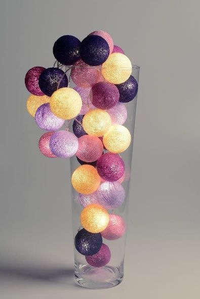 Cotton ball light Purple