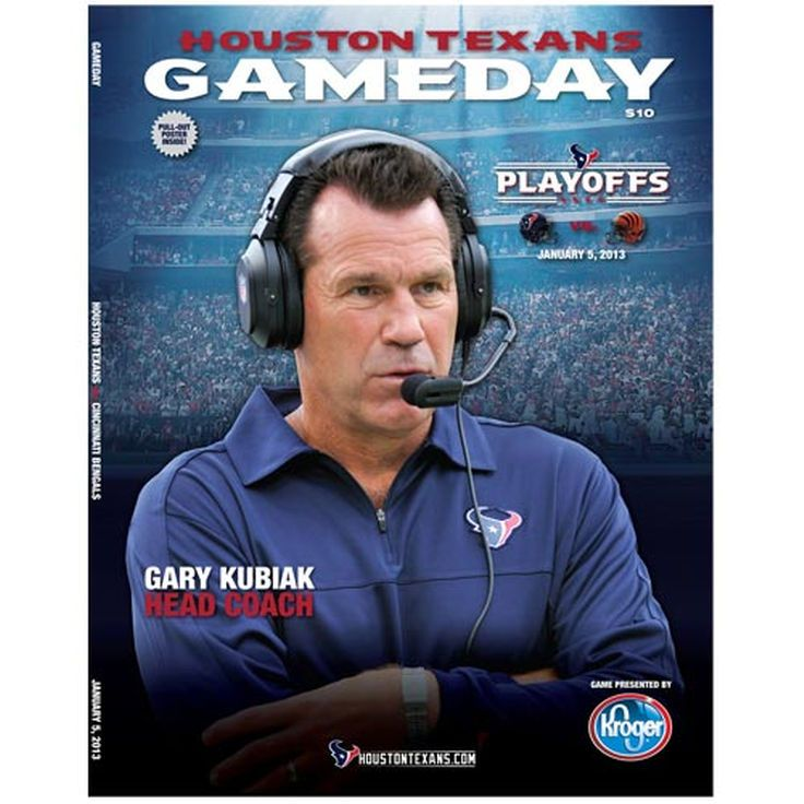 Houston Texans vs. Cincinnati Bengals 2012 Playoff Game Program - $3.99