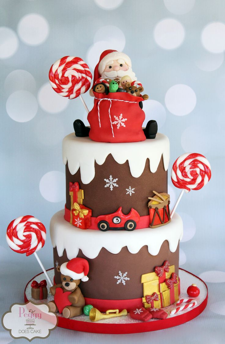 1000 Images About Christmas Cakes On Pinterest