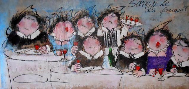 Gerdine Duijsens-Samedi soir le fouquet 95 x 180 cm