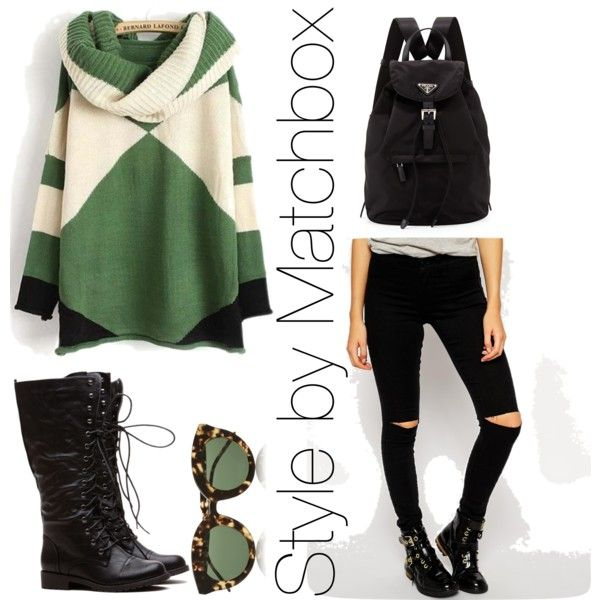 Look invernal by maria-cecilia-gatti on Polyvore featuring polyvore fashion style Noisy May Prada