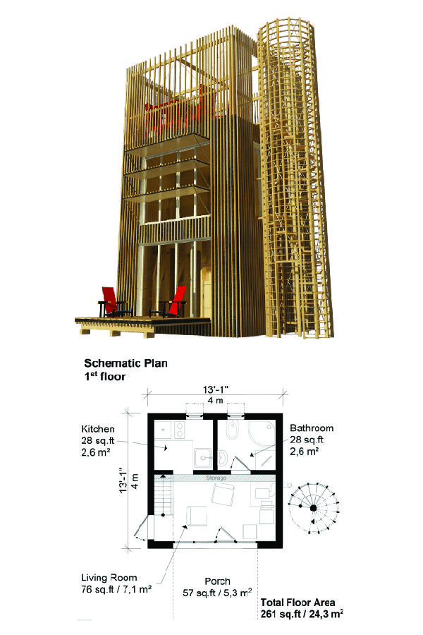 Small Tower House Plans Small House Design Architecture House Plans Tower House