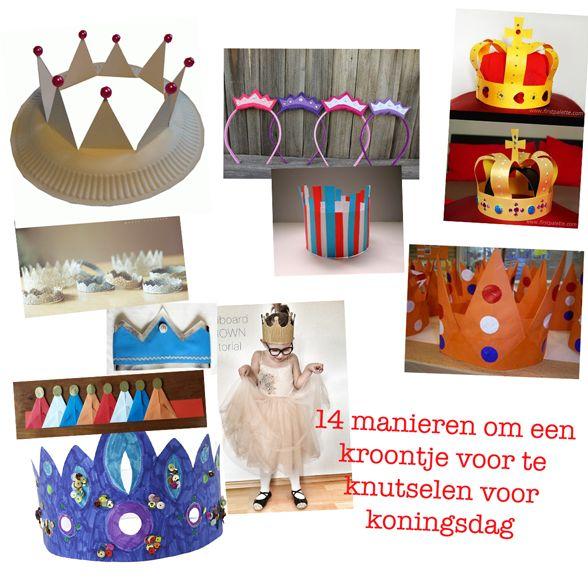 Knutselen koningsdag: 14 manieren om zelf gemakkelijk een leuke kroon te knutselen voor koningsdag.