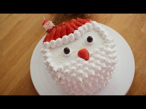 [ENG] 노오븐 크리스마스 산타 케이크 만들기 :No oven baking recipe: How to make christmas cake - YouTube