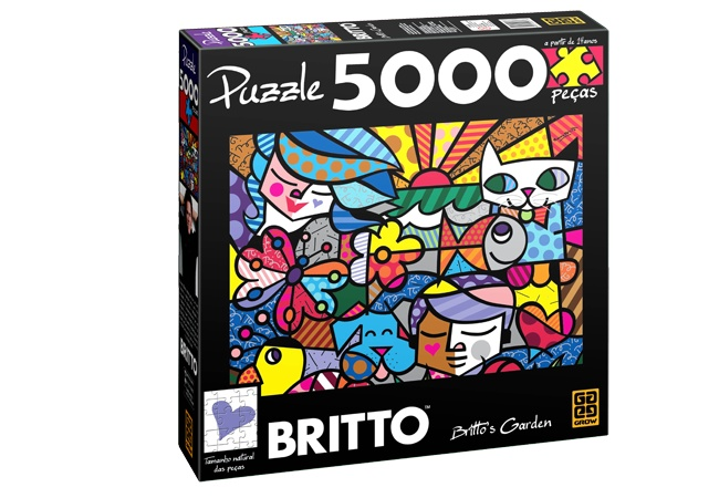 PUZZLE 5000 PEÇAS ROMERO BRITTO - BRITO'S GARDEN