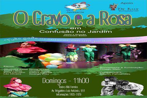 Eu vou no O Cravo e a Rosa em:Confusão no Jardim. Acesse também a https://www.ingressorapido.com.br/compra/?id=42086#!/tickets e compre já o seu ingresso!
