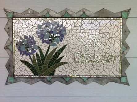Image result for agapanthus mosaic tile
