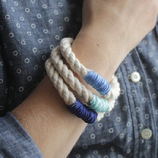 These bracelets will take you less than 20 minutes and add some much needed fun to your accessories collection.