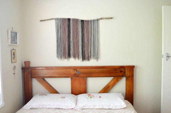 woollen wall hanging DIY  #wool #tapestry #textiles #littlebubalishka