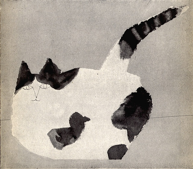 Cat by Saul Steinberg.