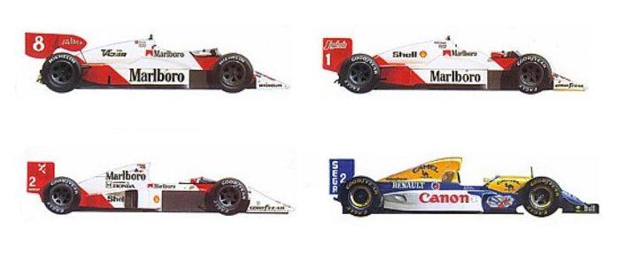 Alain Prost 1985, 1986, 1989, 1993