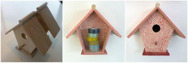 huisje creatief: decoratie: vogelhuis in twee zagen --> dubbel genot aan de muur