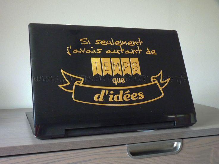 Sticker citation ordinateur (laptop quote decal)