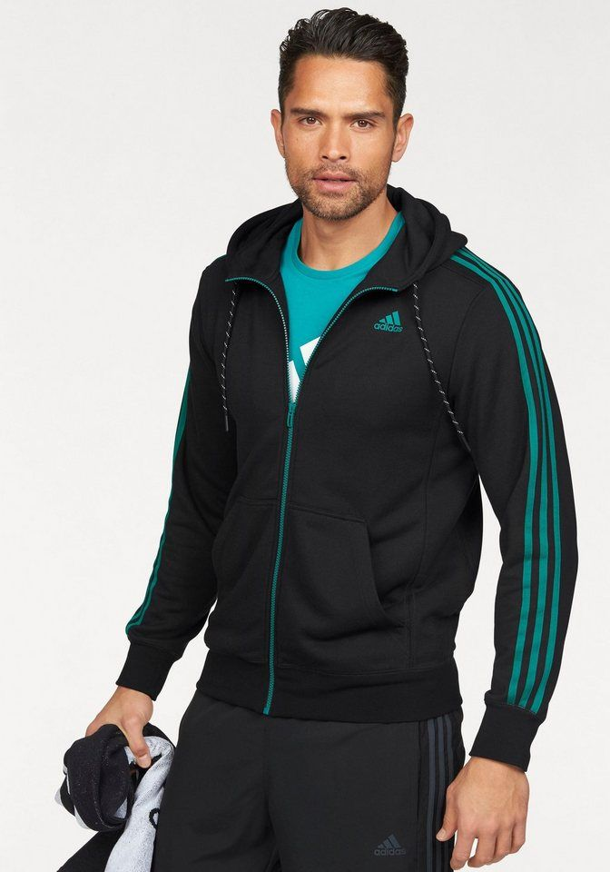 adidas Performance ESSENTIALS 3S HOODIE FRENCH TERRY Funktions-Kapuzensweatjacke