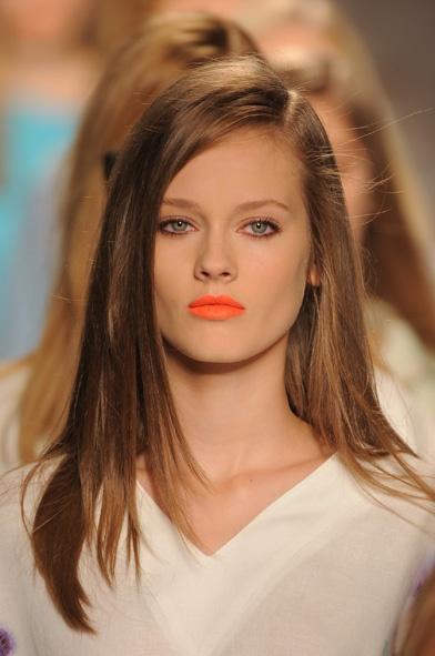 lovely Jac rocking the bright orange lips