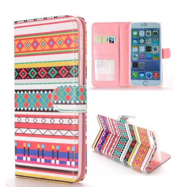 Modern aztec design bookcase hoesje voor iPhone 6 Plus