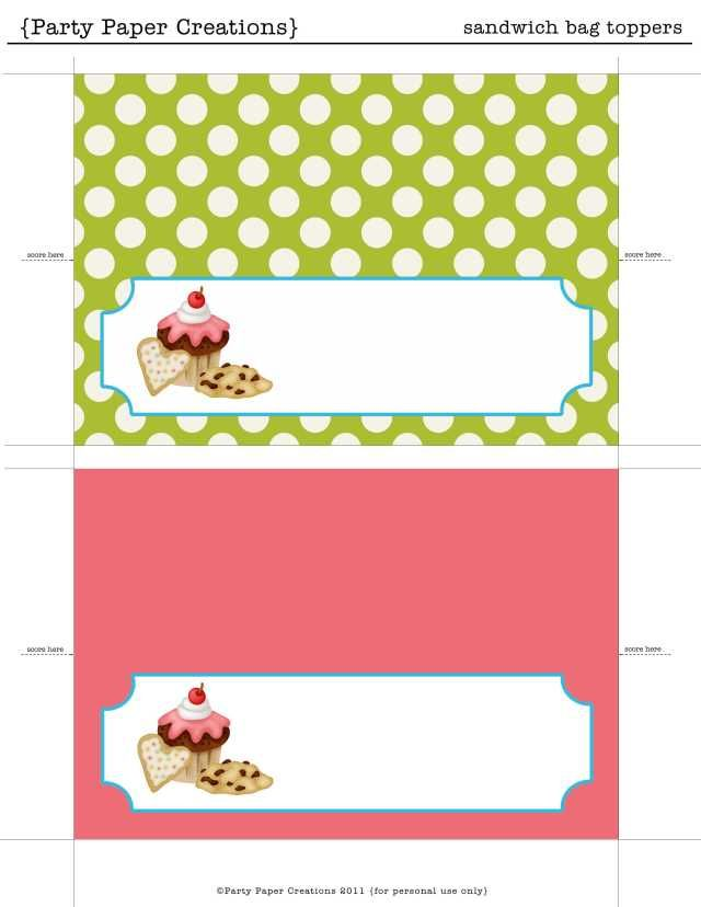 This is an image of Adaptable Free Cake Labels Printable