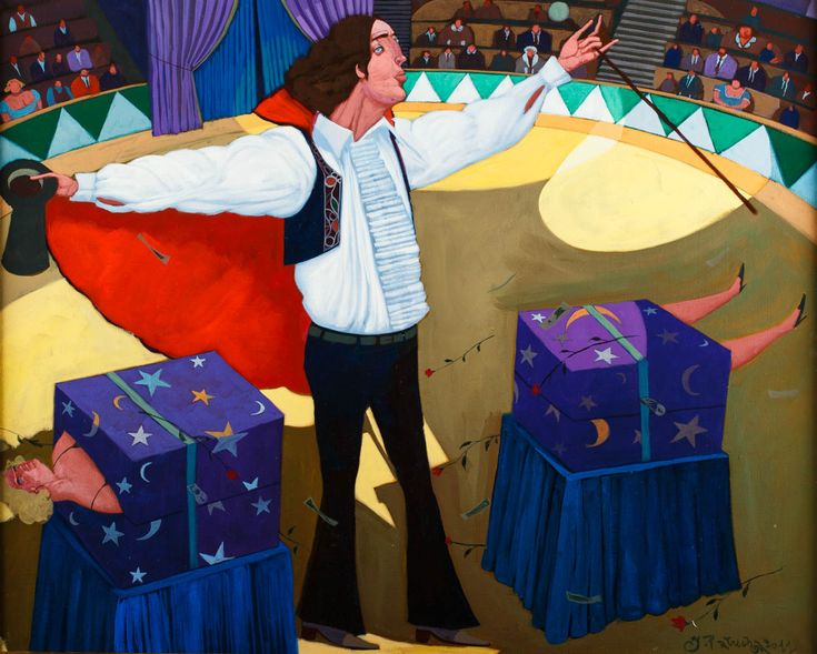 JACEK PAŁUCHA  MAGIC MAN, 2011   olej, płótno / 65 x 81 cm