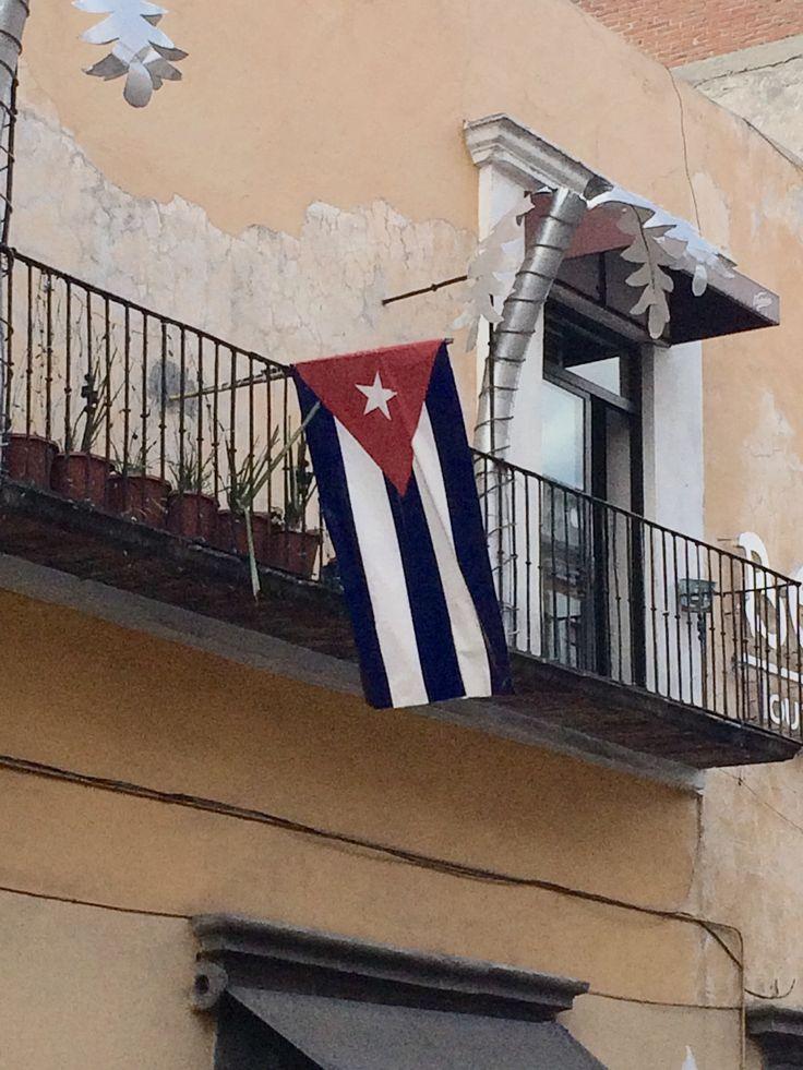 La bandera de Cuba (flag of Cuba) located in Historical Center of Puebla, Mexico. #mexico #puebla #travel #cuba #cubalibre #flag #bandera