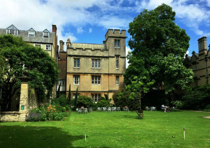 University College Fellows' Garden - ready for croquet?