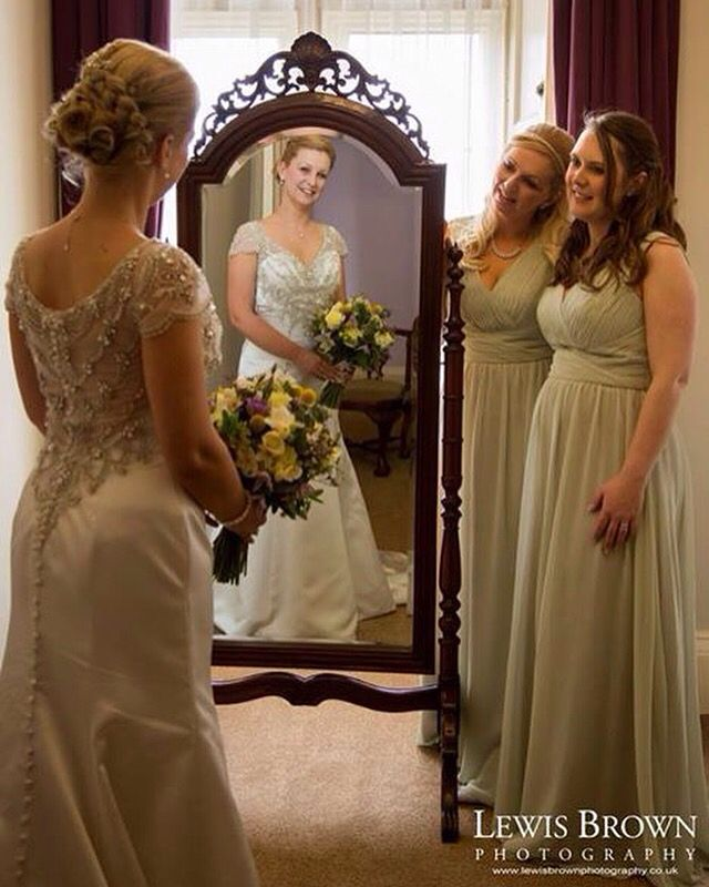 Bride and her bridesmaids  St Audries Park Wedding Venue