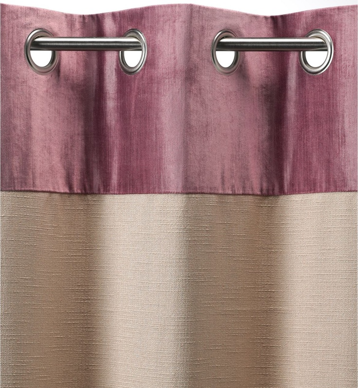 Velvet Trim Eyelet Curtains