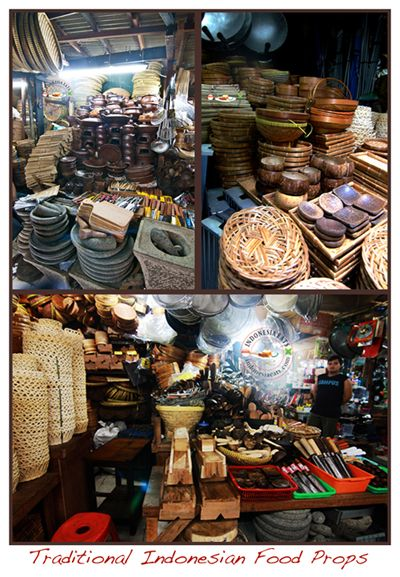 Traditional Indonesian Food Props at Pasar Senen, Jakarta