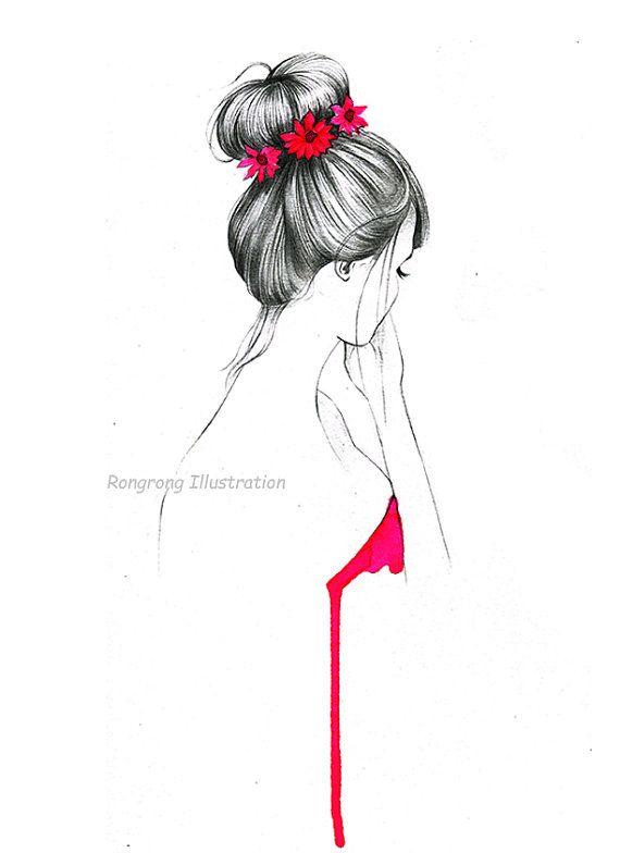 Fashion illustration Holiday art decor by RongrongIllustration