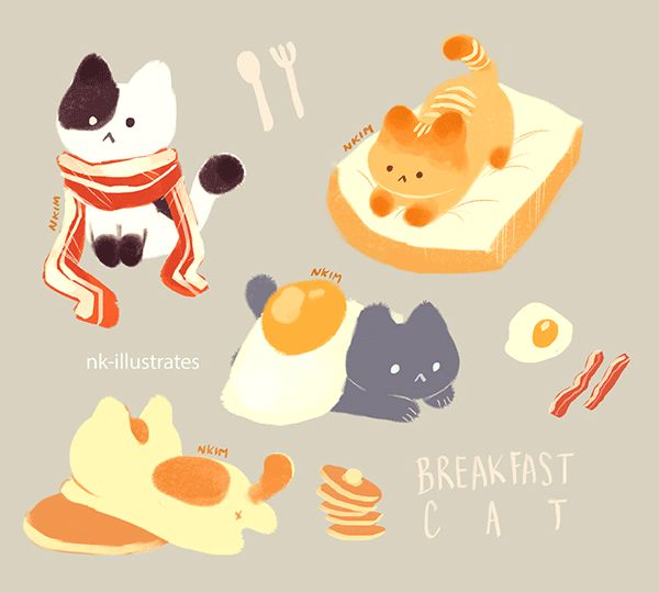 Breakfast Cats