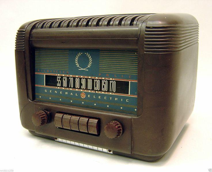 Vintage 1942 GE L 650 Tube Bakelite Radio General Electric L650 Pre Tested Works | eBay