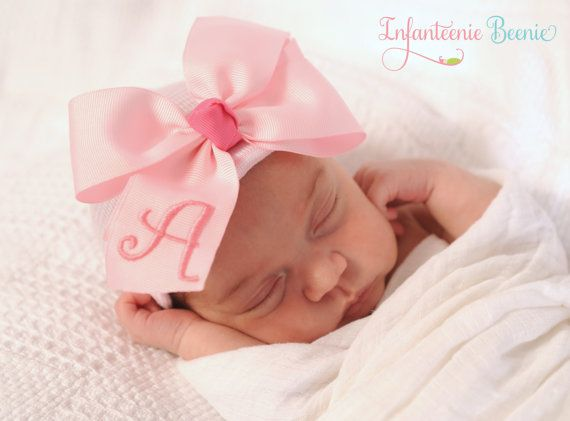 Hey, I found this really awesome Etsy listing at https://www.etsy.com/listing/223326177/any-initial-baby-girl-hat-newborn-baby