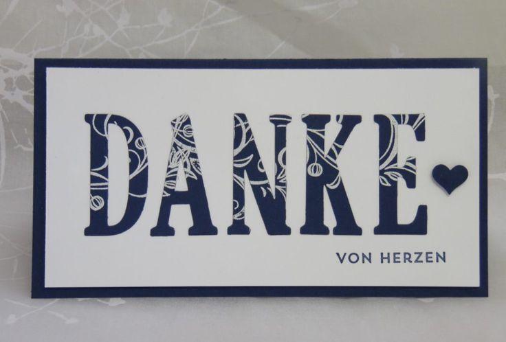 Stampin Up Danke Karte, Stampin Up große Buchstaben,www.ilonasstempelhaus.de