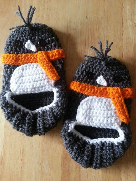 Crochet Penguin Slippers! Inspired by Salina Yoon's Penguin books!