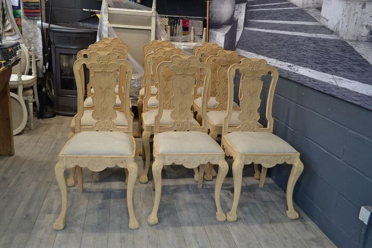 12 Chaises Chippendale Regarnies, Age d'Or Antiquités, Proantic