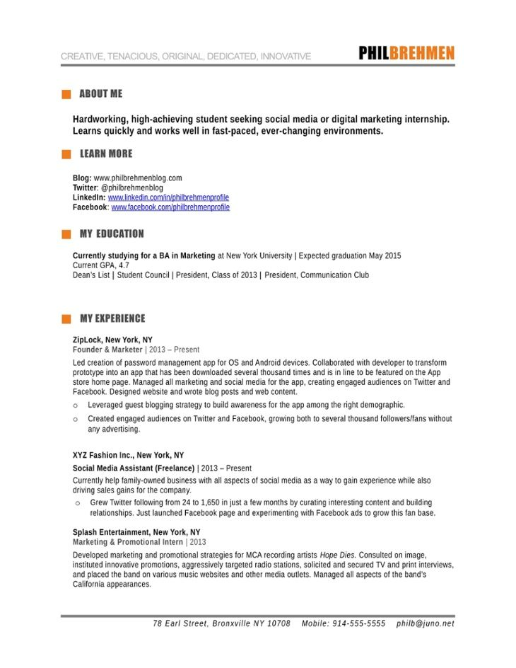 The 25+ best Marketing resume ideas on Pinterest Creative cv - marketing resume