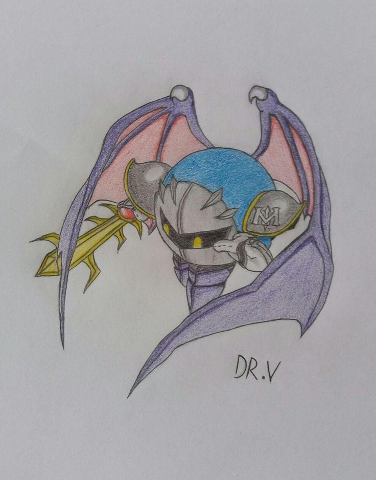 Dibujo hecho para una Dinámica, Meta Knight edición Super smash 4.