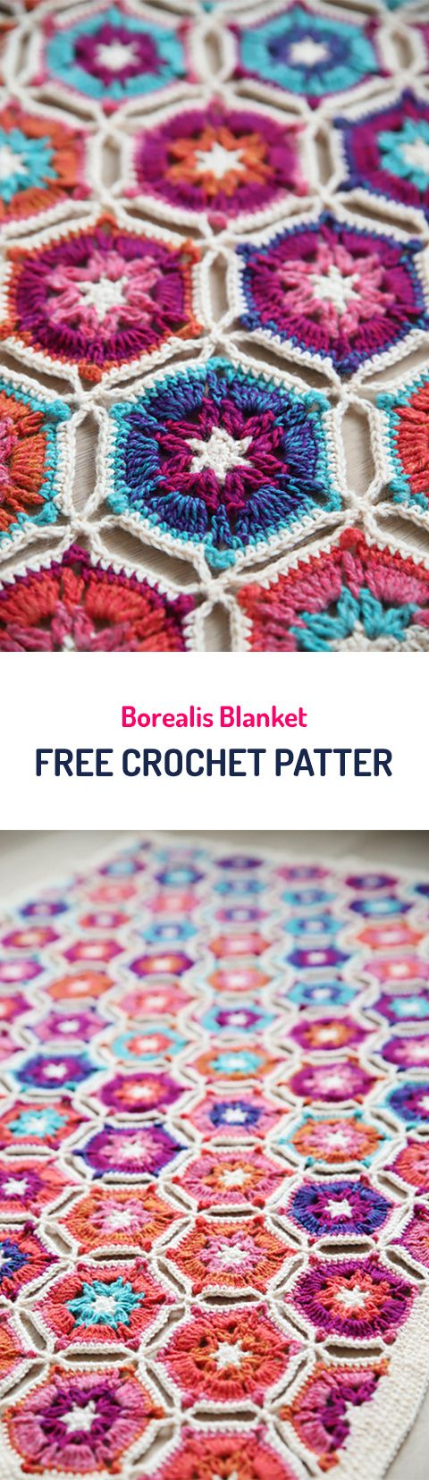 Borealis Blanket Free Crochet Pattern #crochet #diy #style #crafts #homedecor