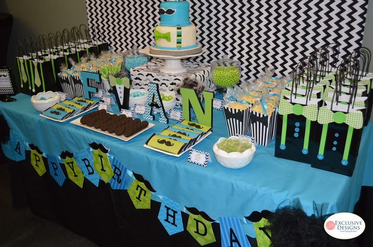 Mustaches / Little Man Birthday Party Ideas | Photo 1 of 17 | Catch My Party