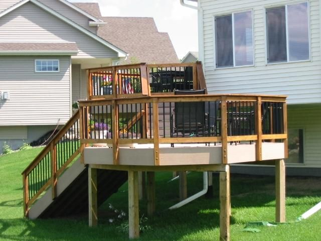 Custom Bi Level Composite Deck Minnetrista Mn Deck