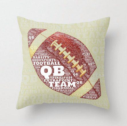 Typography football pillow