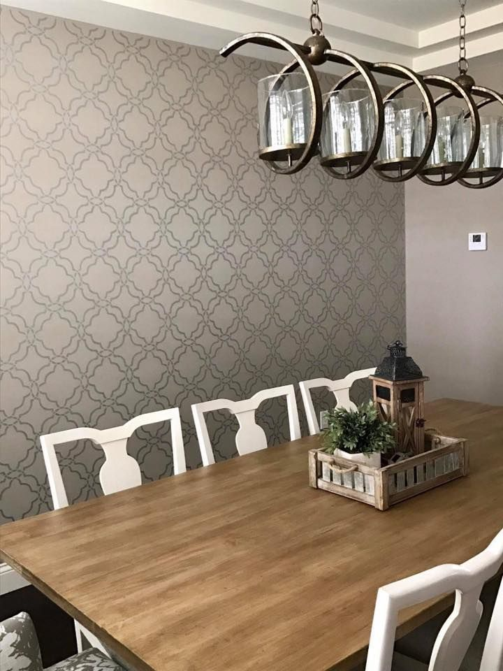 Pin On Stenciled Accent Walls