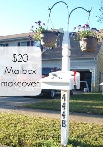 Quick and cheap mailbox makeover - Simply Swider #Colonial #white
