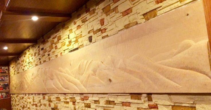 Reliéf Západných Tatier v reštaurácii