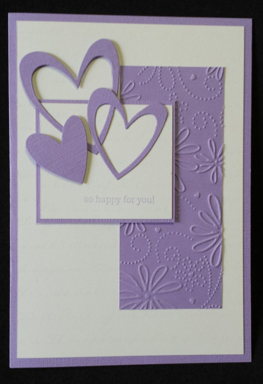 Hand made card. Engagement Card. Congrats Al and Juz