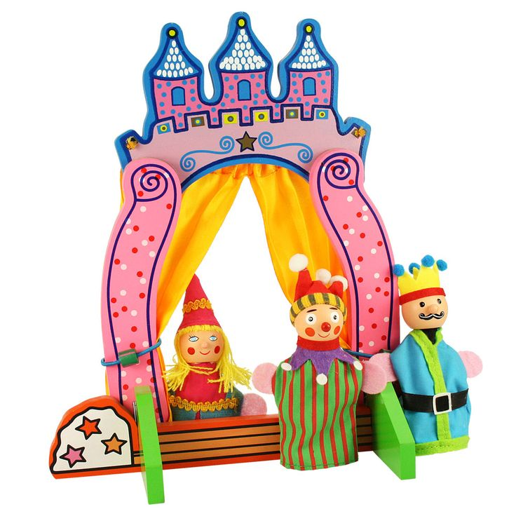 Use any of BigJigs' finger puppet range to put on a play in this wonderful and brightly coloured wooden finger puppet theatre which, in the style of all great fairy tales, comes in the form of a castle. Includes three characters so your child can get started straight away. Age 3 years+