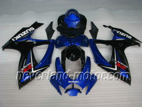 SUZUKI GSX-R 600/750 2006-2007 K6 ABS Fairing - Blue/Black #2006SUZUKIgsxr750fairings #2007SUZUKIgsxr600fairings