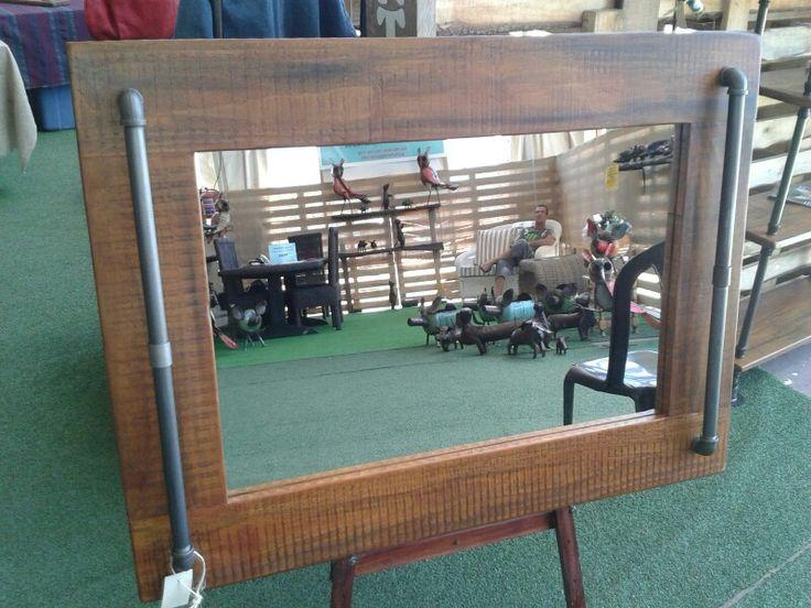Steampunk inspired mirror