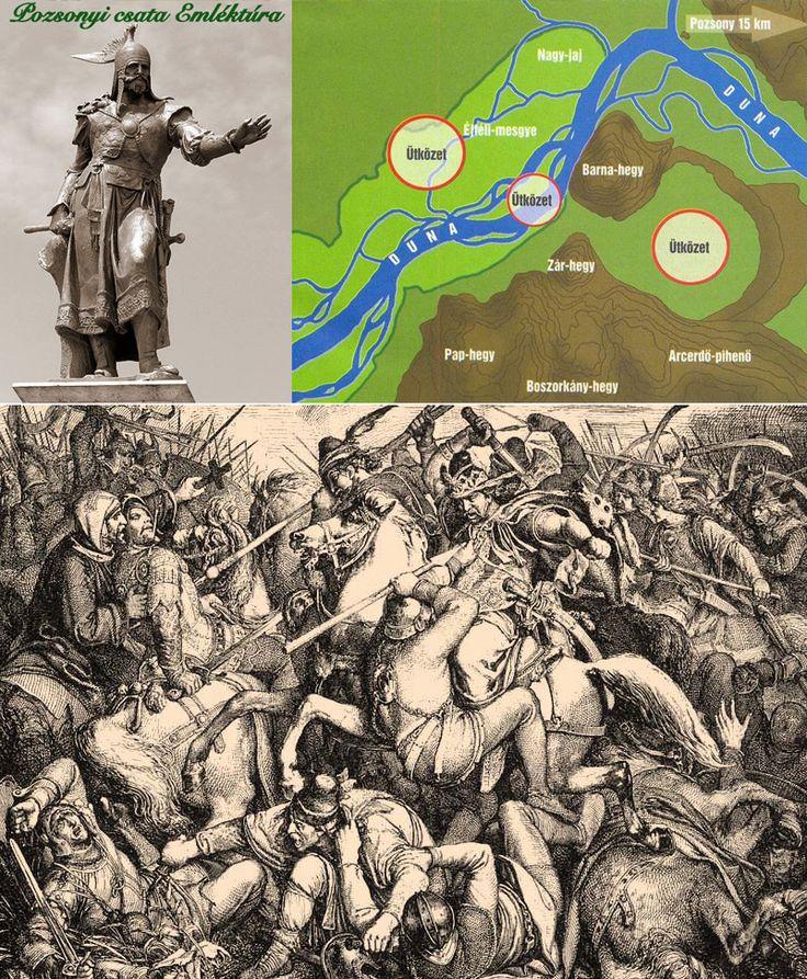 """A pozsonyi csata, 907. július 4-7. - A magyar történelem egyik sorsdöntő, de méltatlanul elfeledett eseménye. 100ezer főnyi frank-bajor sereg és az azt megsemmisítő Árpád és fiai vezette 40ezres magyar haderő között zajlott le! A támadás célját világosan meghatározták az ellenség lobogóira írt szavai: """"a magyarok kiírtassanak!"""" De a Pozsony alá érkező sereget a magyarok két nap alatt tönkreverték! A győzelem hosszú időre biztosította országunk nyugati határait."""